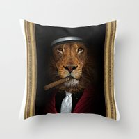 the godfather Throw Pillows featuring the godfather by Natasha79