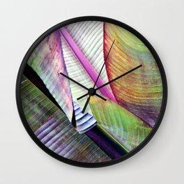Banana Leaf Poetry Wall Clock
