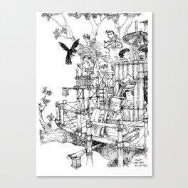 La Cabane Idéale / The Ideal Cabin Canvas Print