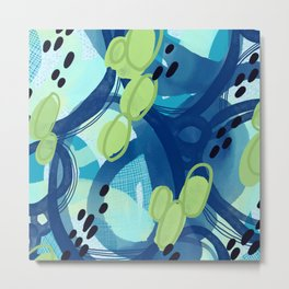 Abstract Oceana Metal Print