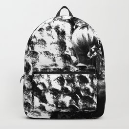 woman drinking a glass of wine on the moon Backpack