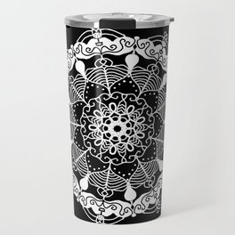 White Mandala 2 Travel Mug