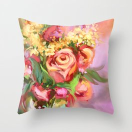 Spring scent Throw Pillow