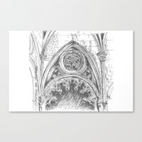 gothic Canvas Prints featuring gothic by Tereza Del Pilar