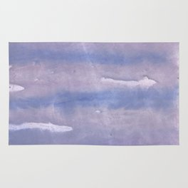 Purple Blue abstract watercolor pattern Rug