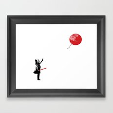 That's No Banksy Balloon (It's a Space Station) Framed Art Print