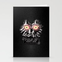 majora Stationery Cards featuring Majora Mask by Janismarika