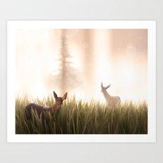 let it go, my deer Art Print