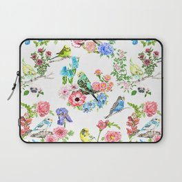 Budgies and Blooms Laptop Sleeve
