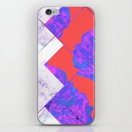 Abstract Geometric Peonies Flowers Design iPhone Skin