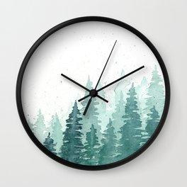Evergreens Wall Clock