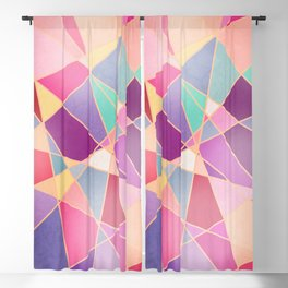 STAINED GLASS WINDOW Blackout Curtain