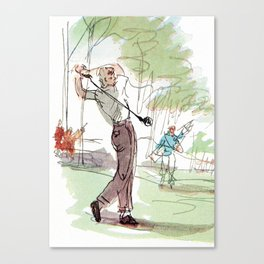Are You Looking At My Putt? Vintage Golf Canvas Print