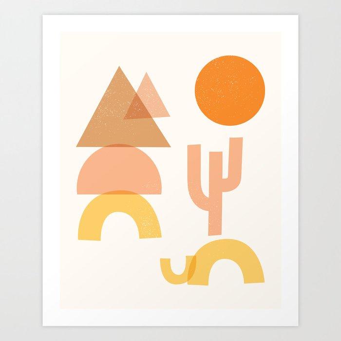 Desert Shapes Art Print
