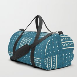 Mud Cloth Patchwork in Teal Duffle Bag