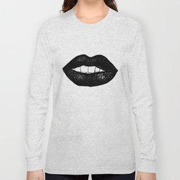 Black Lipstick Long Sleeve T-shirt