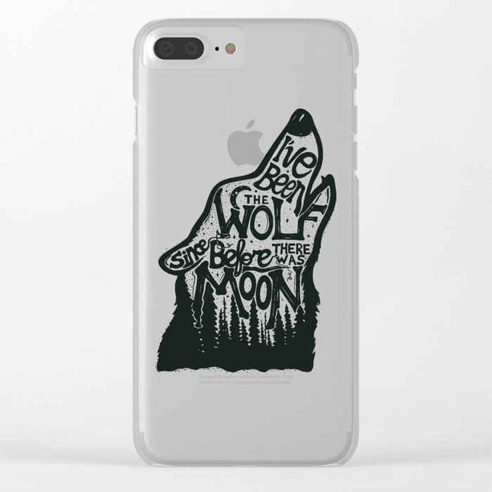 The Wolf Clear iPhone Case