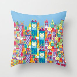 It's A Small World - Theme Park Inspired Throw Pillow