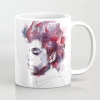 prince Mugs featuring Prince by Allison Kunath