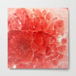 Red Crystal Agate Abstract 2 Metal Print