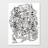 lsd Canvas Prints featuring LSD by octavio ramirez