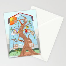 Childhood on a wall Stationery Cards