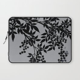 TREE BRANCHES BLACK AND GRAY LEAVES AND BERRIES Laptop Sleeve