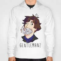 gentleman Hoodies featuring Gentleman by M-chi