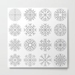 minimalist snow flakes Metal Print