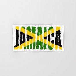 Jamaica Font with Jamaican Flag Hand & Bath Towel