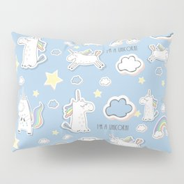 I'm a Unicorn - blue Pillow Sham