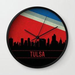 Tulsa Skyline Wall Clock