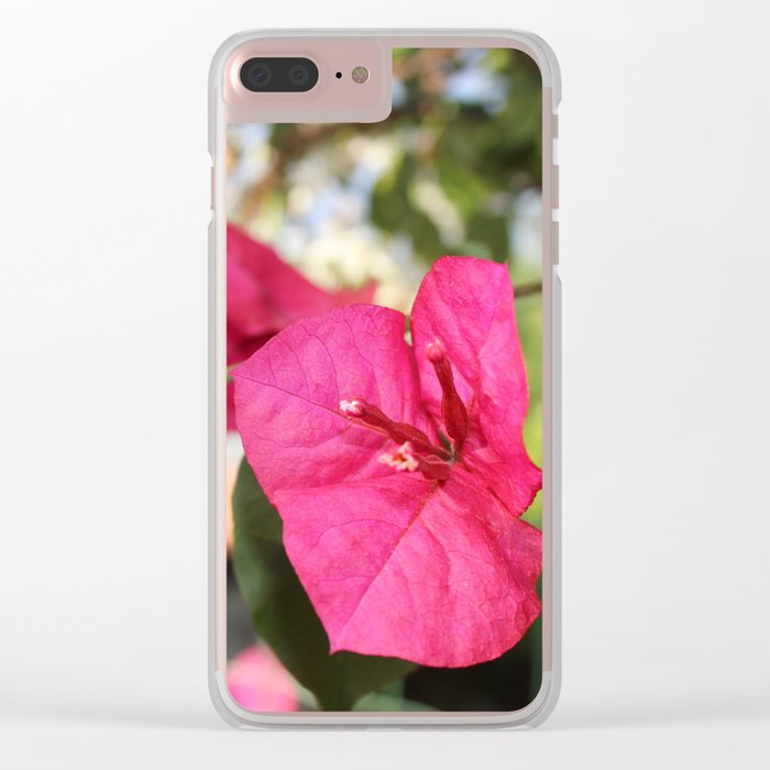 Violet Flower Clear iPhone Case
