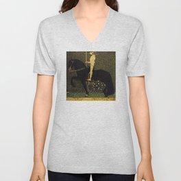 Gustav Klimt - Golden Rider Unisex V-Neck
