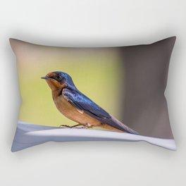 Shiny Swallow Rectangular Pillow
