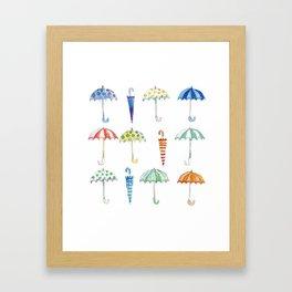 Umbrellas Framed Art Print