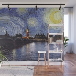 starry night over london Wall Mural