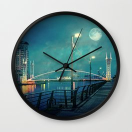 Salford Moon Wall Clock