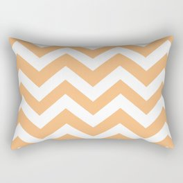 Mellow apricot - pink color - Zigzag Chevron Pattern Rectangular Pillow