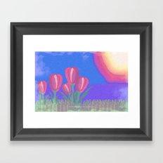 FLOWERS IN THE SUN V3 - 023 Framed Art Print