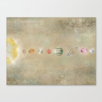 solar system Canvas Prints featuring Solar system by bri.buckley