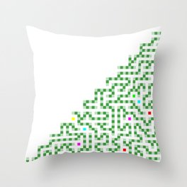 R Experiment 8 (Xmas hydra tree) Throw Pillow