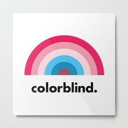 Colorblind Rainbow Metal Print