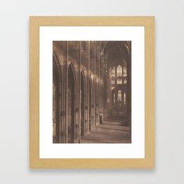 Auguste-Rosalie Bisson - interior of Saint-Ouen Abbey, Rouen (1857) Framed Art Print