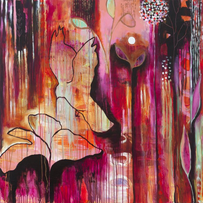 """""""Kiss"""" Original Painting by Flora Bowley Comforters"""