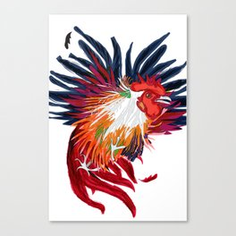 Fighting Cock Canvas Print