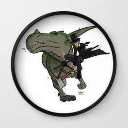 Cross-Time Lincoln Wall Clock