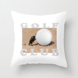 Golf Club Throw Pillow
