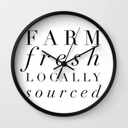 Farm Fresh locally sourced Wall Clock