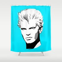 butcher billy Shower Curtains featuring Billy Idol by Laura Meg